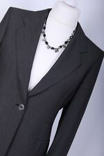 MAX MARA RRP £655 UK10 EU38 Dark Grey Wool & Mohair Suit Blazer Work Jacket Coat