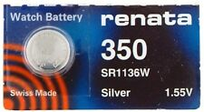 Renata Single Watch Battery Swiss Made Renata 350 or SR1136SW 1.55 V Fast Ship