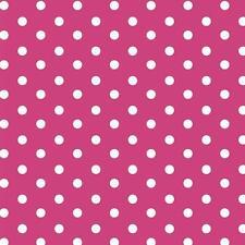 Baumwollstoff Große Punkte Pink METERWARE Webware Popeline Stoff Big Dots