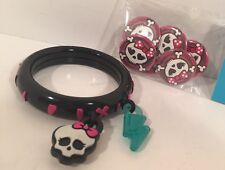 Monster High Bracelet And Pins Lot
