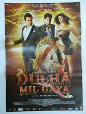 DULHA MIL GAYA 2010 SHAH RUKH FARDEEN KHAN SUSHMITA SEN  Rare Poster Bollywood