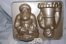 NEW WILLIAMS SONOMA NORDIC WARE VINTAGE SANTA CLAUSE 3D CAKE PAN 10 CUP