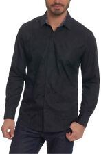 Robert Graham NWT Onyx Black Tonal Embroidery Shirt Size 3XL Retail $248