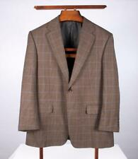 HICKEY FREEMAN Madison Worsted Green Windowpane Gun Club Check 2 Button 40S USA