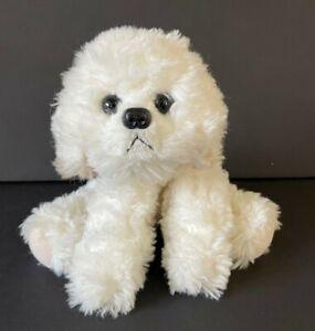 """Russ MUFFIN 8"""" Bichon Frise Puppy Dog Plush White 23218 Stuffed Animal Toy"""