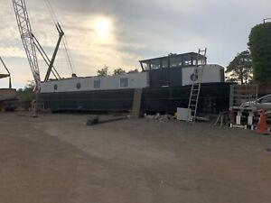 58ft Dutch Barge Widebeam Liveaboard Canal Boat Modern