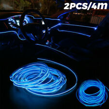 4M Blue Auto Car Interior Atmosphere Wire Strip Light Led Decor Lamp Accessories (Fits: Truck)