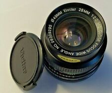 Vivitar 28mm f/2.0 MC Close Focus Wide Angle Prime Camera Lens. Fits Canon FD