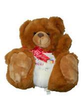 """Ganz 10"""" Babys First Bear Teddy Plush Stuffed Animal Red Bow 1995"""