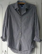 TOMMY HILFIGER-Regular Fit  Blue And White Check  Shirt Rolled Sleeves Size S