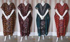 #WB2 New Multicolour Batik 100% Cotton Kaftan Maxi Dress Nighty Tunic Beach