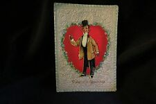 """Vintage English Gentleman Valentine Card Early 1900S Tuck """"the Dude"""""""