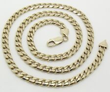 SOLID 10CT YELLOW GOLD 59CM CURB LINK NECKLACE/NECK CHAIN