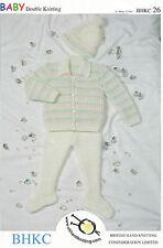 "Original Vintage Knitting Pattern Baby Coat Leggings & Hat 12""-18"" BKHC 26"