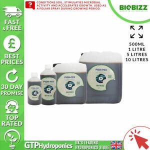 BioBizz Fish Mix - 250ml / 500ml / 1L / 5L / 10L Litres - Organic Nutrient
