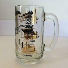1967 Worlds Fair Montreal Canada Beer Mug Buck Pavilions Souvenir Expo 67