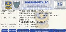 Ticket - Portsmouth v Nottingham Forest 12.01.99 FA Cup