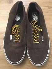 Vans Era Brown Suede Shoes Size 10.5