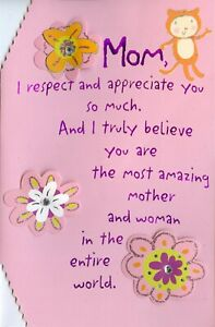 American Greetings Mother's Day Card: I Respect & Appreciate You So Much...