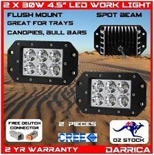 "2 x 30W 4.5"" CREE LED flush mount spot light ute tray bull bar canopy 4x4 4wd"