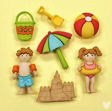 Dress It Up Botones día en la playa 7874-Ball Pala Cubo de los niños