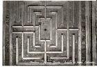Cartolina Mantova Palazzo Ducale soffitto legno labirinto 1950 (ar271)