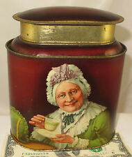 THE OLD COUPLE  RARE BRITISH BISCUIT TEA TIN  c1908