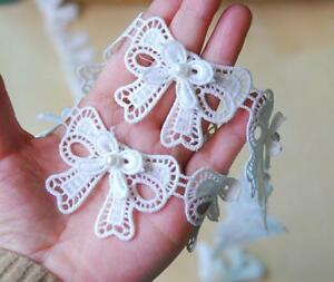 DIY 2 Yards Double layer Bow Lace Beading Necklace Makeing Clothing Accessories