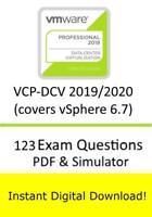VMware Professional vSphere 6.7 VCP-DCV 2019 2V0-21.19 (123 Exam PDF Sim>Email)