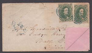**CSA Cover, SC# 1(2) Charlottesville, VA 11/13/1861 Pink Inside Cover