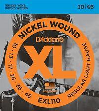 D'Addario Bright Round Nickel Wound Guitar Strings EXL110EXL 110 Cheap shipping
