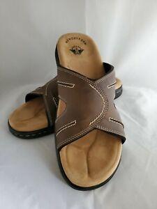 Men's Dockers SUNLAND 90-21398 Dark Brown Slip-On Slide Sandal Shoes Size 14M