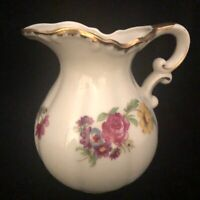 Lefton China Hand Painted Floral Pitcher 7255 Japan