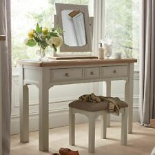Harrogate Grey Painted Furniture Dressing Table, Stool and Mirror Set