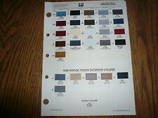 1989 Dodge Truck Commercial Ditzler PPG Color Chip Paint Sample -