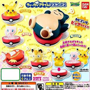 Bandai Pocket Monsters Pokemon Sun & Moon Teacup Tea Cup Time Mascot V 2 Figure