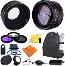 Lens & Filter Kit + Backpack for Nikon  D3300 D3200 D3100 D3000 D5200 D5100