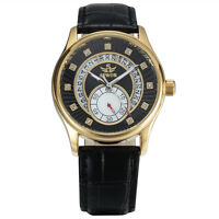 Sewor 40mm gents Gold case Mechanical Automatic Mens luxury wristwatch Skeleton