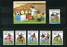 Cambodge 1997 FOOTBALL COUPE DU MONDE FRANCE Ensemble de 6 Timbres & S/S MNH