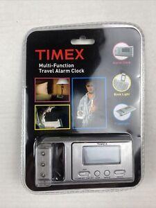 Brand New Timex Multi- Function Travel Alarm Clock with Book Light, Flashlight