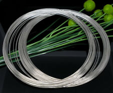 20 x Loops Memory Beading Wire Coils 140mm x 0.6mm Antique Silver Necklace Wire