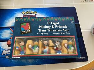Vintage Disney Mickey and Friends Christmas String Light Set 10 Tree Trimmer