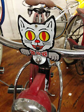 Felix Crazy Kat license plate topper red kitty cat mechanical eyes tongue cool