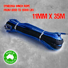 Dyneema SK75 Synthetic Winch Rope, Cable 11mm x 35m, 4WD Boat Recovery Offroad