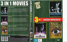 Laser Mission-1990-Brandon Lee/Abraxas-1990/Bronx Executioner-1989-3 Movie-DVD
