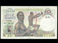 French West Africa:P-37,10 Francs,1950 * EF *