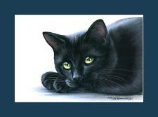 Black Cat Print Look Inside You by I Garmashova