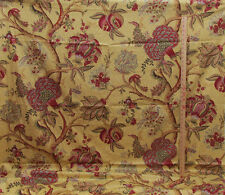 "Richloom Platinum Fabric Large Exotic Floral Flower Red Gold 156"" Screen Print"
