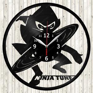 Ninja Tune Vinyl Record Wall Clock Decor Handmade 1245