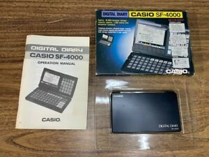 Vintage Casio SF-4000 Digitial Diary Calculator Calendar PDA WORKS Made In Japan
